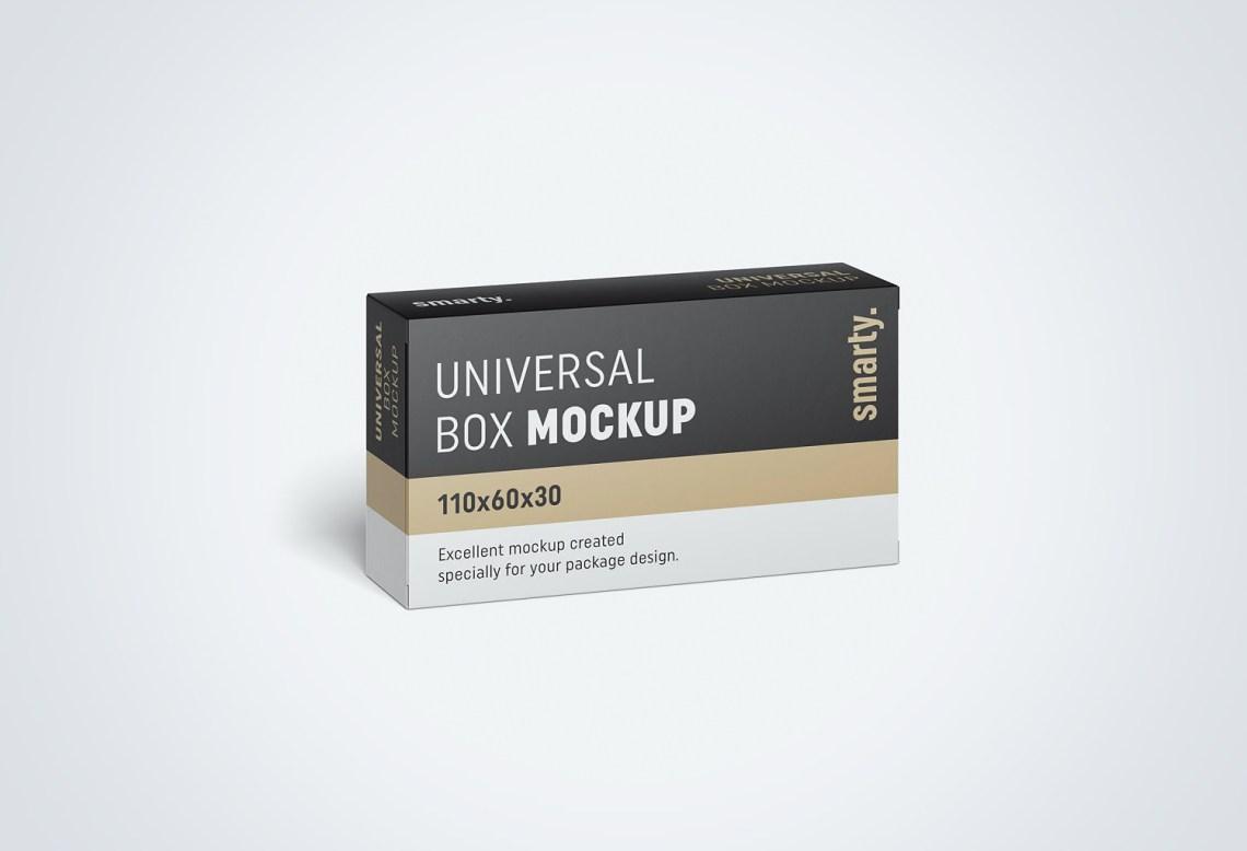 Box Packaging Free PSD Mockup | Mockup World HQ