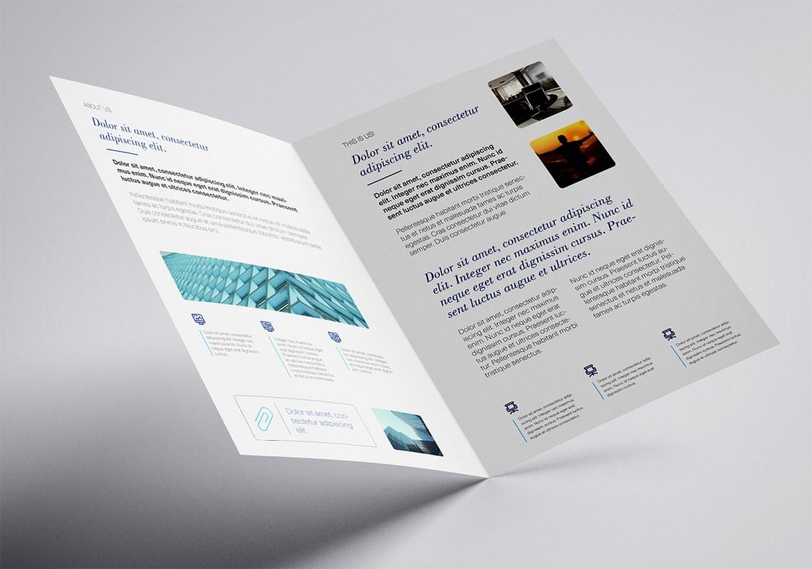 Download Free A4 Bi-Fold Mockup Template | Mockup World HQ