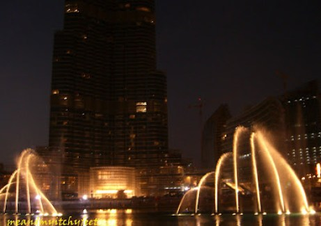 Dubai dancing fountains show