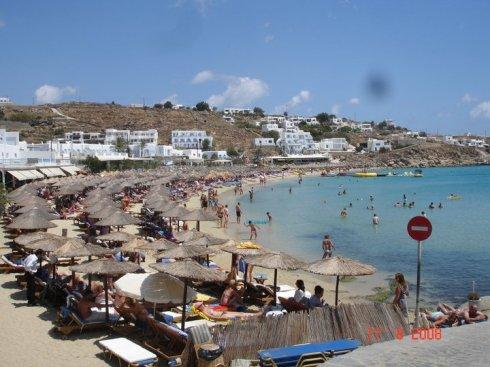 Greek island Mykonos platys yalos beach