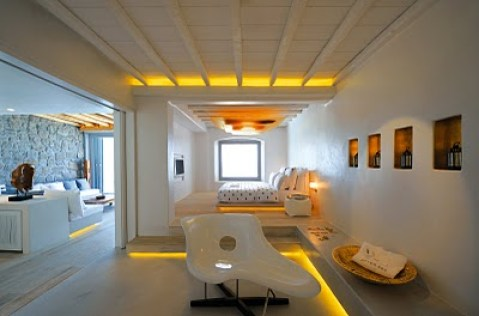 Greece Mykonos island room of Hotel Cavo Tagoo located in Mykonos town