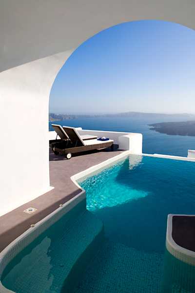 Luxury suites Greek island Santorini