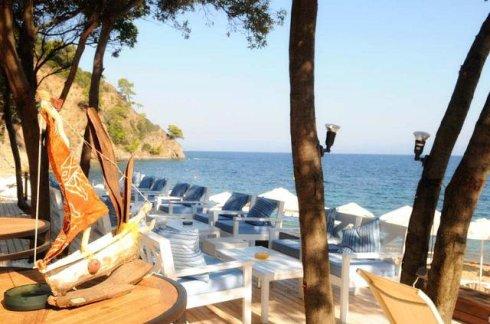 Greece Halkidiki akti zografou beach bar Bahia