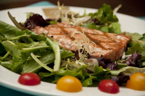 Gourmet salad with Salmon