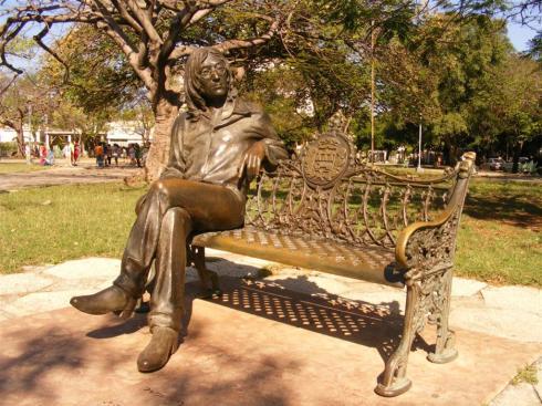 Statue of Lennon in a Havana park, Cuba.