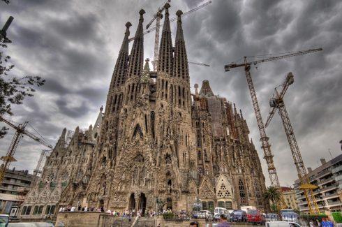 Barcelona Sagrada Familia Exterior Gaudi