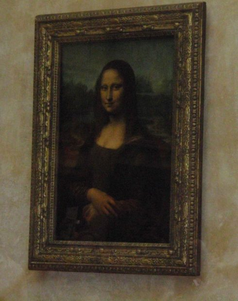 Louvre museum, world's famous painting Mona Lisa