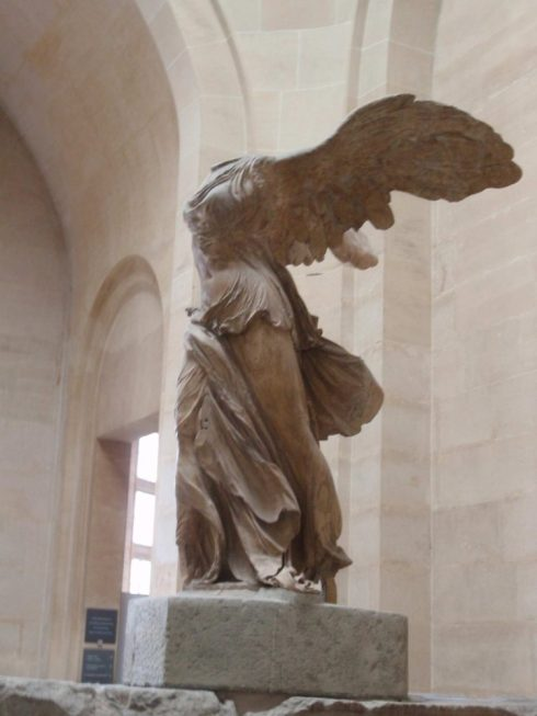 Louvre museum interior, famous sculptures