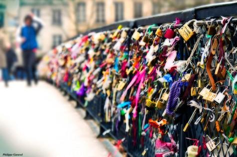 Lover's bridge Paris France