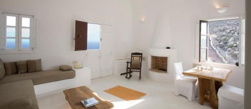 room of the Beautiful villa in Santorini Greece 4