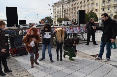 festival against racism in Aristotelous Thessaloniki Greece