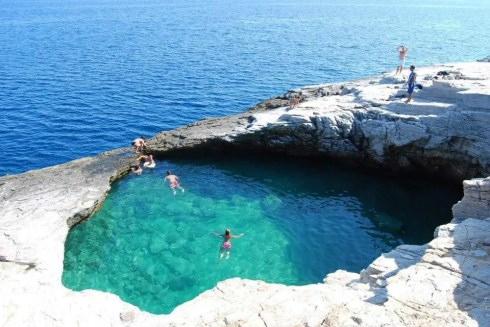 most beautiful natural pools Giola, Thassos, Greece