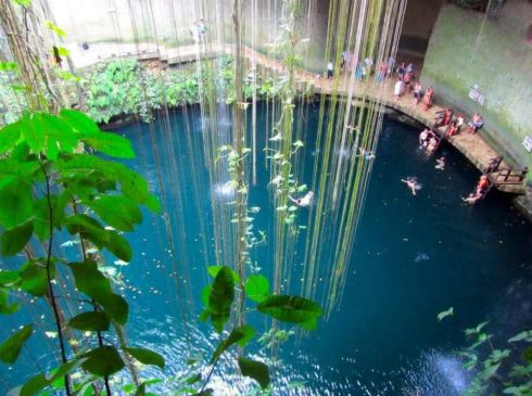 most beautiful natural pools Ik Kil, Cenote, Mexico