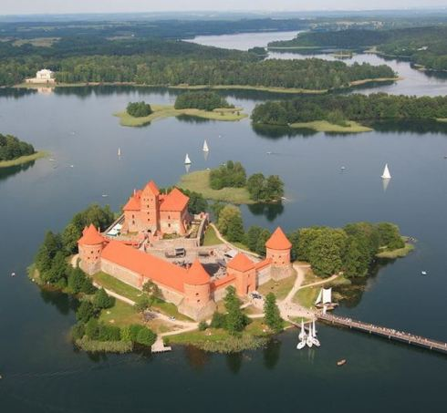Trakai Island Castle in Lake Galvė, Lithuania 4