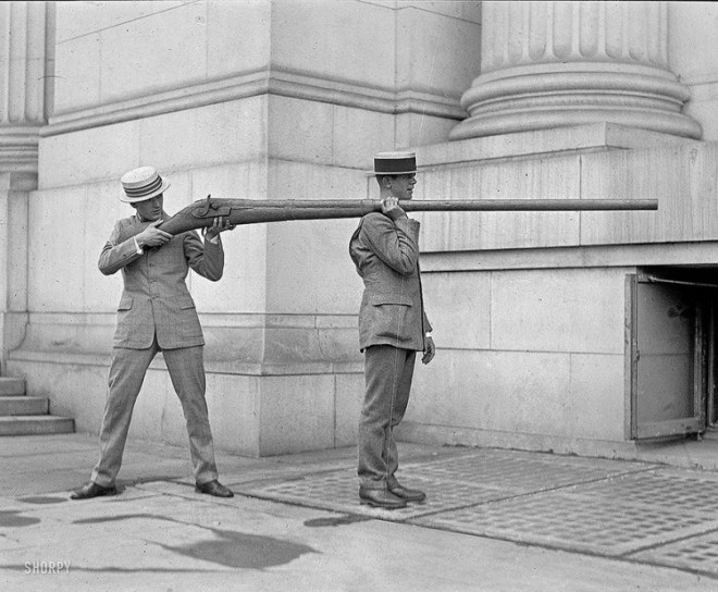 strange old timey inventions, weapon