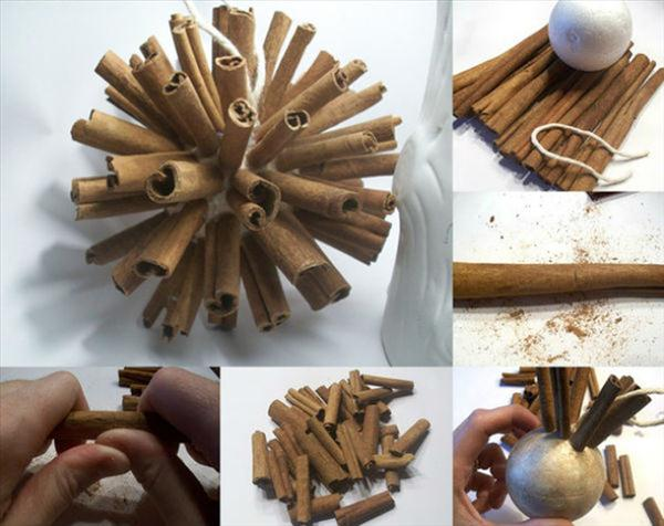 diy christmas ornament, cinnamon sticks