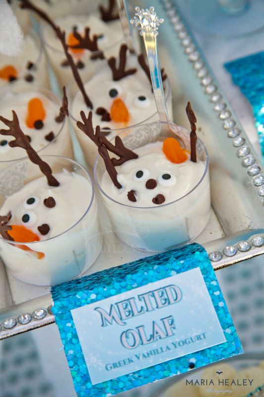 the cutest olaf cookies, melted olaf