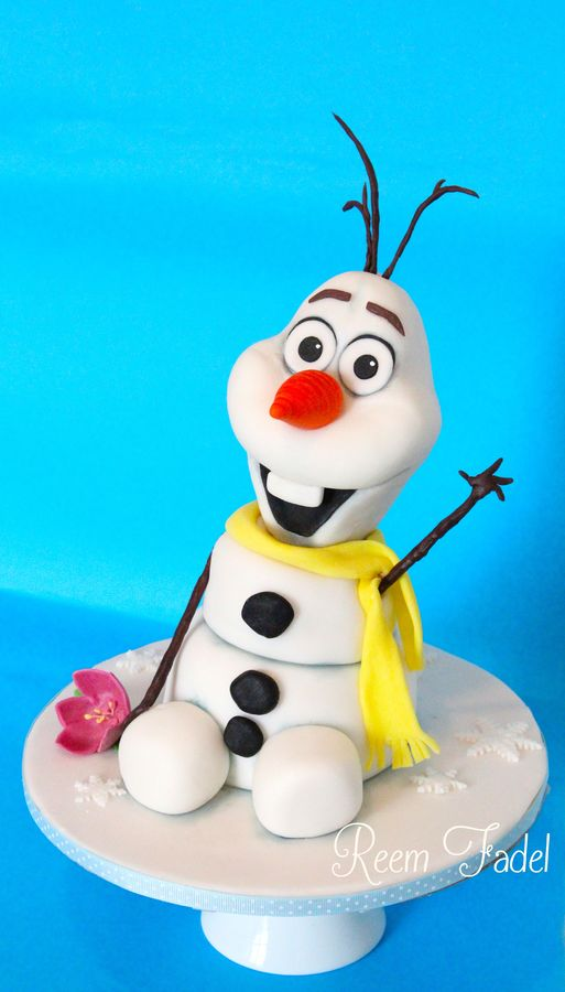 the cutest olaf cake
