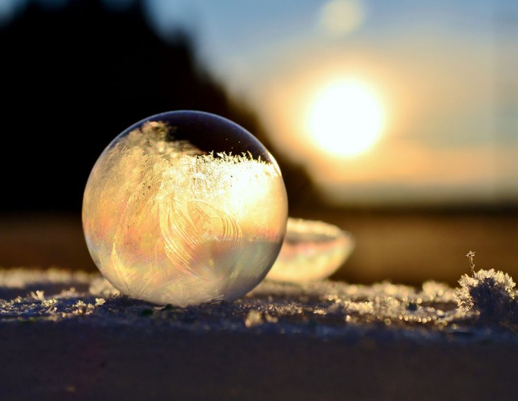 Frozen art by nature, bubbles