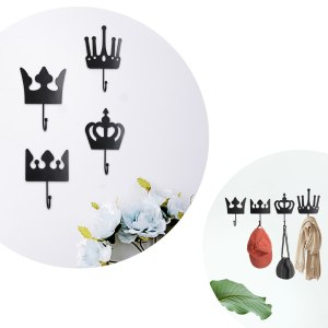 King Queen Princess Crown Molding Wall Hooks