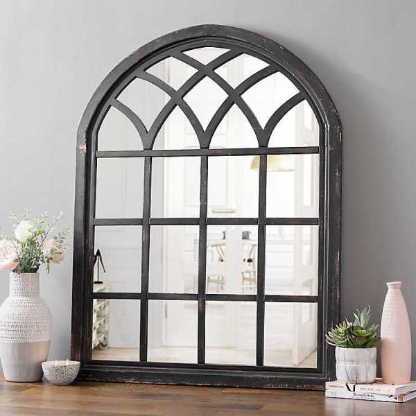 Wall Mirrors - Sadie Black Arch Wall Mirror