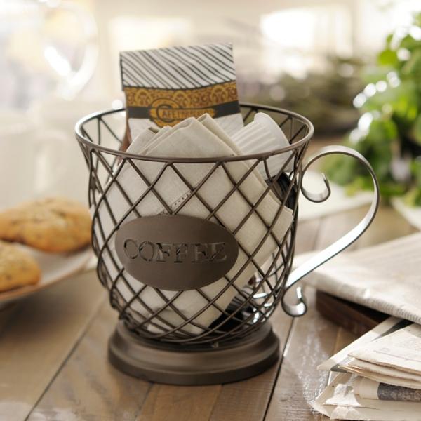 Decorative Accessories - Coffee Cup Basket