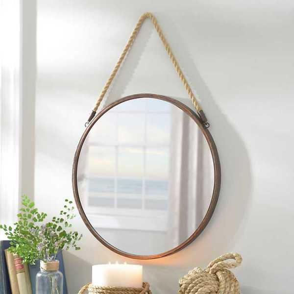 Wall Mirrors - Metal Rope Wall Mirror