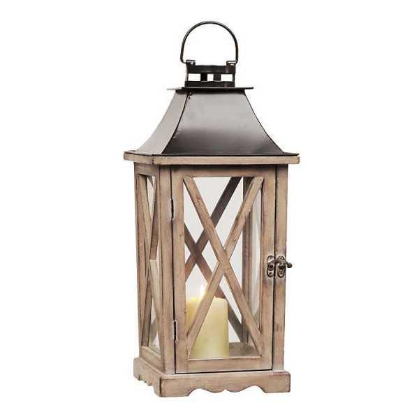 Candle Lanterns - Natural Wood Lantern