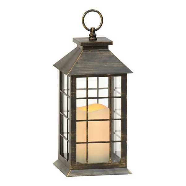 Candle Lanterns - Brushed Bronze LED Lantern