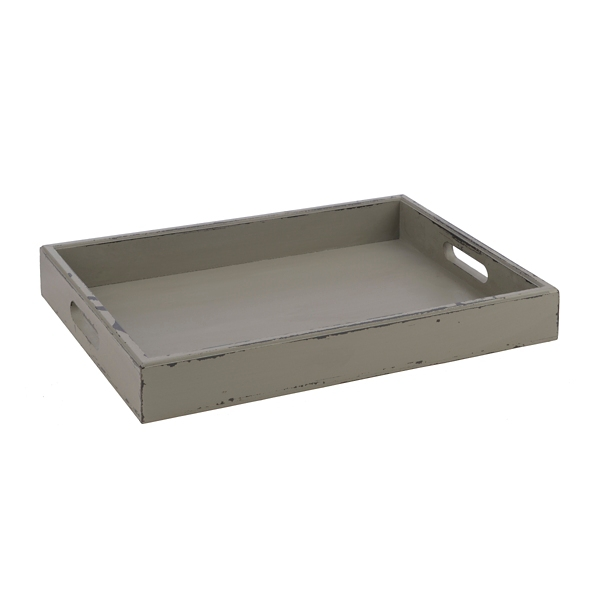 Decorative Trays - Rustic Gray Distressed Wood Tray ... on Corner Sconce Shelf Tray id=28093