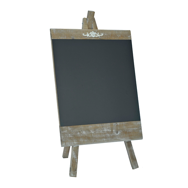 Decorative Accessories - Weathered Wooden Easel Chalkboard