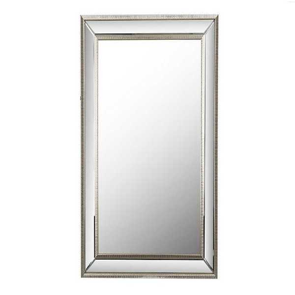 Wall Mirrors - Large Silver Luxe Leaner Mirror, 37.2x67.2 in.