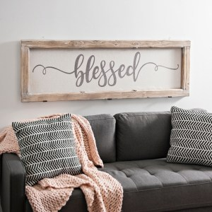 Blessed Rustic Door Frame Wall Decor