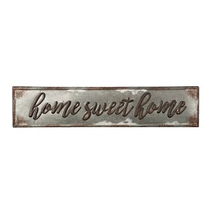 Home Sweet Home Galvanized Metal Wall Art
