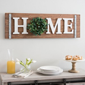 Home Wreath Wooden Wall Decor