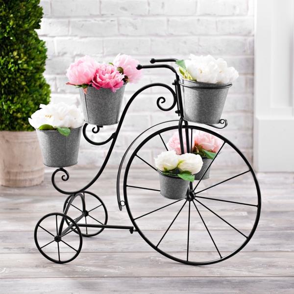 Planters - Galvanized Metal Tricycle Planter