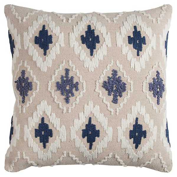 Throw Pillows - Blue Diamond Textured Pillow