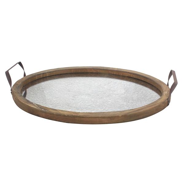 Decorative Trays - Mirrored Wood Oval Tray - Mocome Decor on Corner Sconce Shelf Tray id=77354