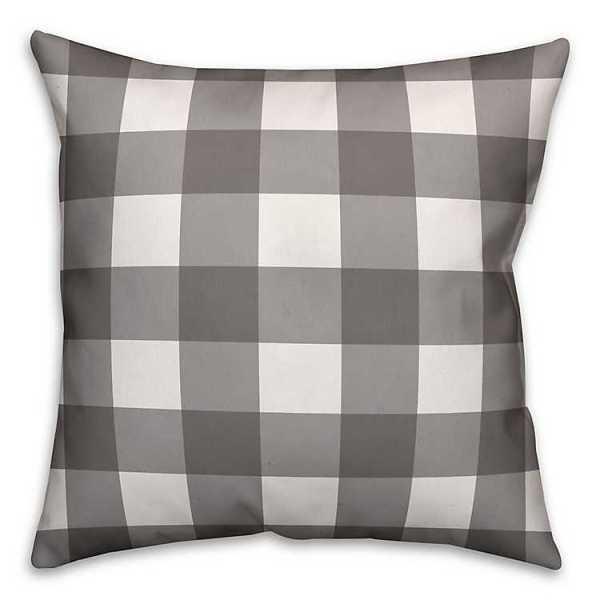 Throw Pillows - Gray and White Buffalo Check Pillow, 26 in.