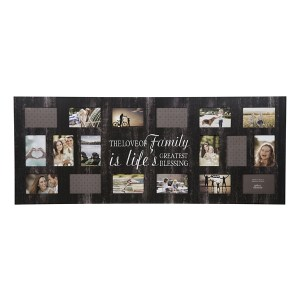 Collage Frames - 21-Opening Family Life Black Collage Frame