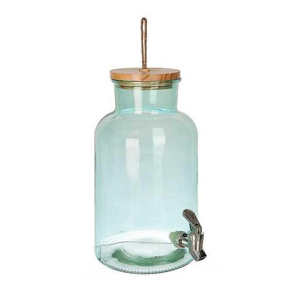 Beverage Dispensers - Ferne Green Glass Beverage Dispenser