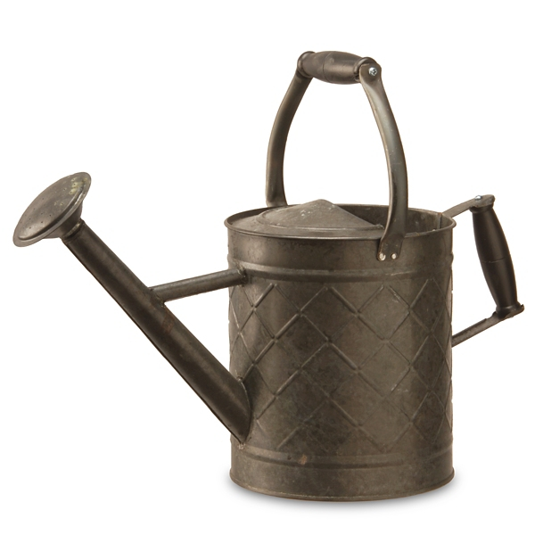 Garden Decor - Antique Black Metal Watering Can