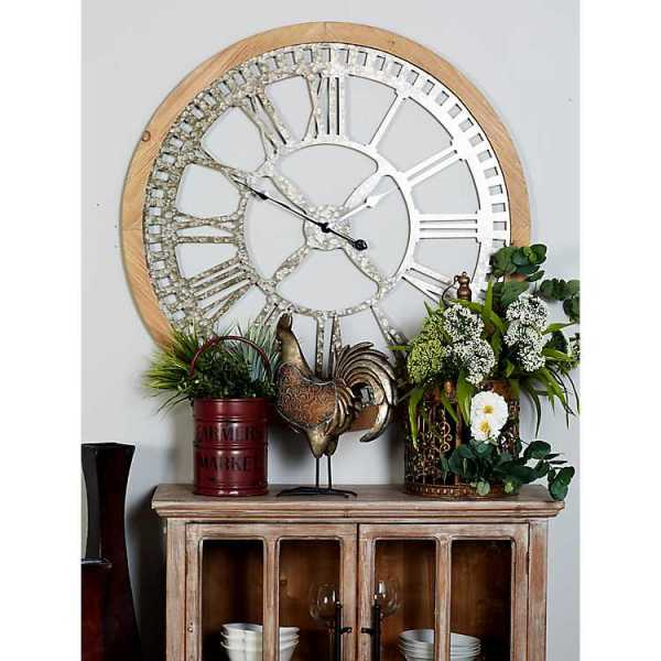 Wall Clock - Drack Metal and Wood Cut-Out Wall Clock