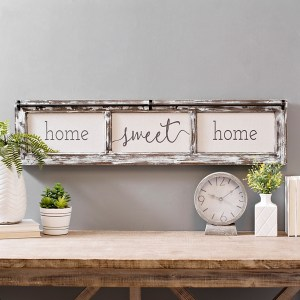 Home Sweet Home Rustic Door Frame Wood Wall Decor
