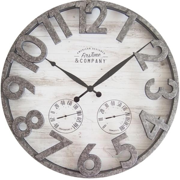 Garden Decor - Shiplap Outdoor Thermometer Clock