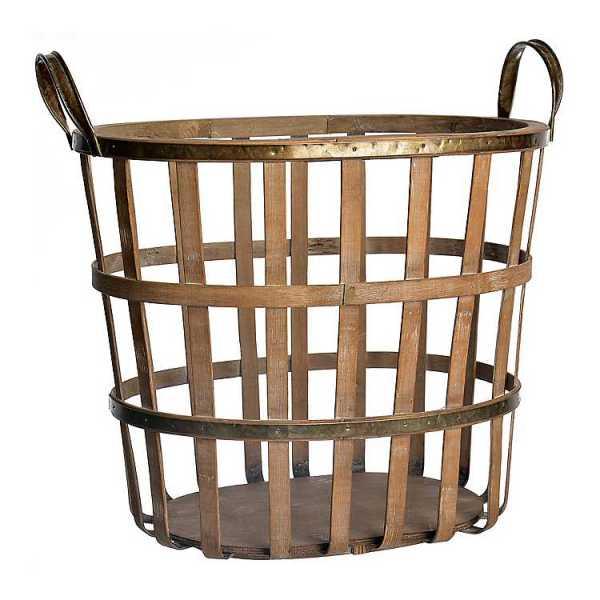 Baskets & Boxes - Bamboo and Metal Patrick Basket