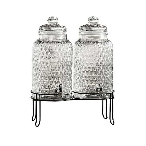 Beverage Dispensers - Douglas Double Beverage Dispensers with Stand