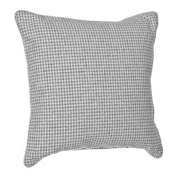 Throw Pillows - Smoke Plaid and Houndstooth Pillow