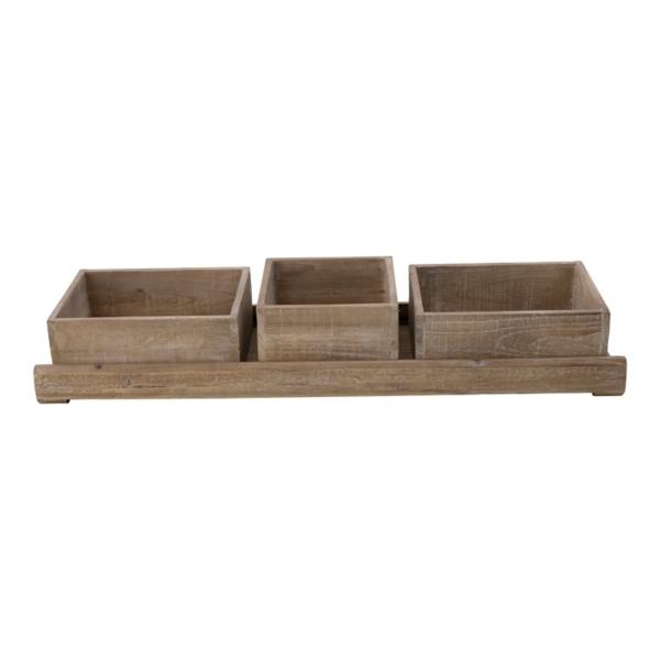 Decorative Trays - Sliding Triple Tray
