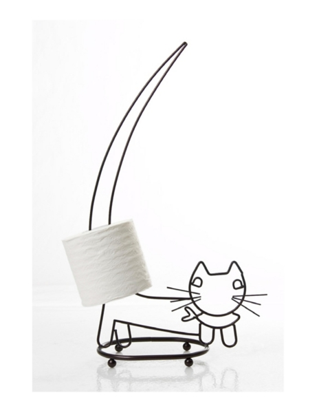 Bathroom Decor - Walking Cat Spare Toilet Tissue Holder